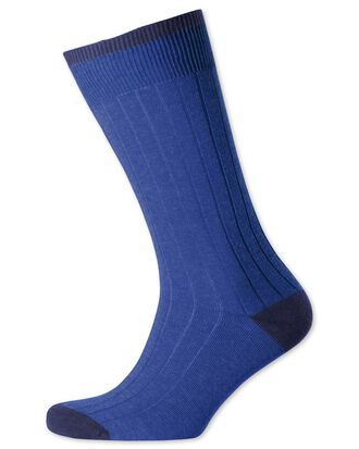 Royal cotton rib socks