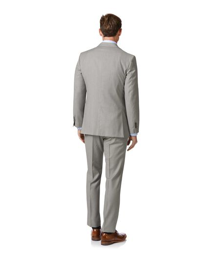 Costume business gris clair en twill slim fit