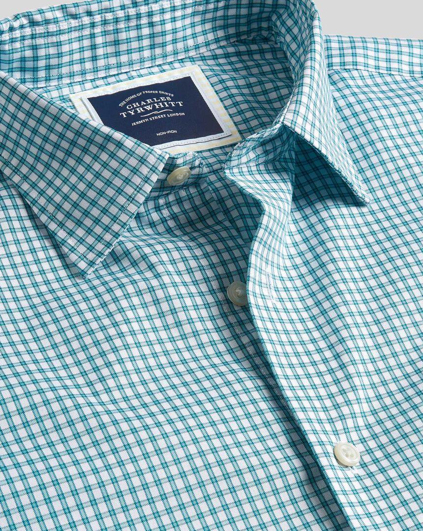 Classic Collar Brighton Collection Check Shirt - Green