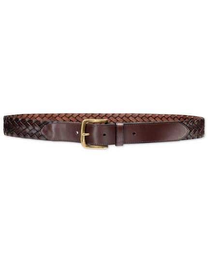 Brown plait belt