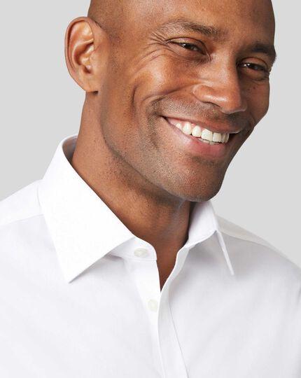 Classic Collar Non-Iron Poplin Shirt  - White