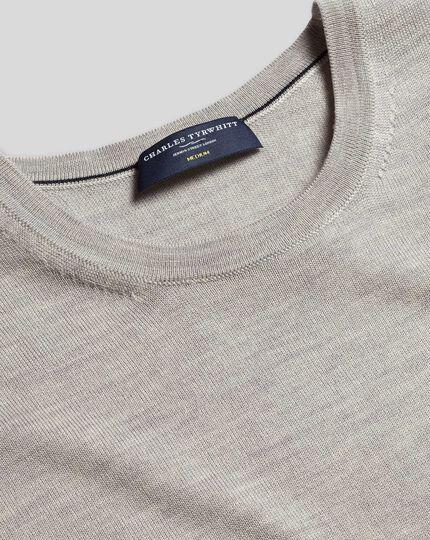 Merino Crew Neck Sweater - Silver