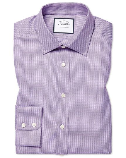 Egyptian Cotton Chevron Shirt - Purple