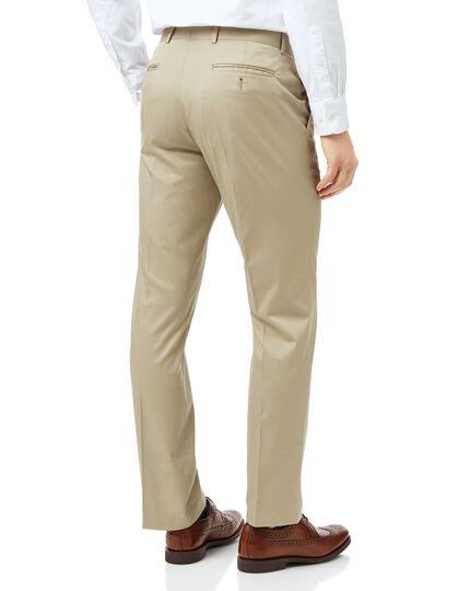 Stone slim fit cotton suit pants