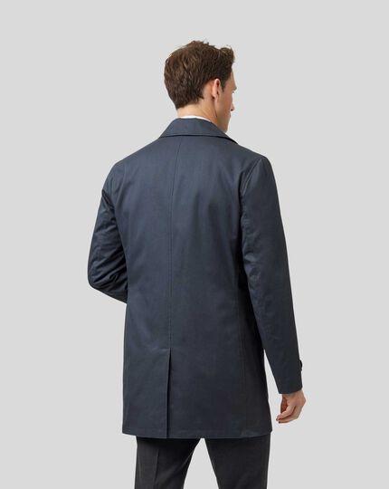 Imperméable en tissu italien - Bleu acier