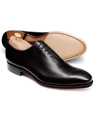 Black wholecut shoe