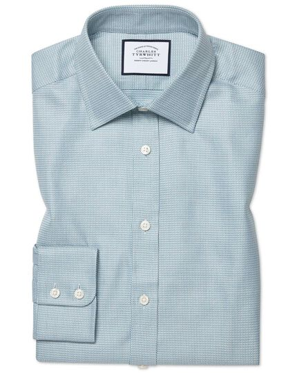 Egyptian Cotton Chevron Shirt - Teal
