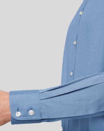 Non-Iron Twill Shirt - Blue