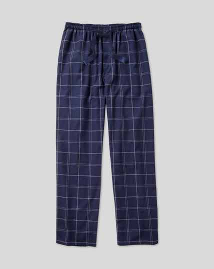 Check Pyjama Bottoms - Navy & White