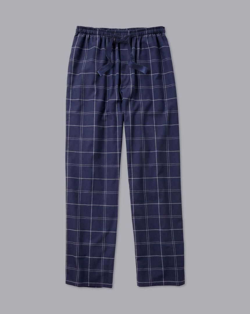Check Pyjama Bottoms - Navy & White