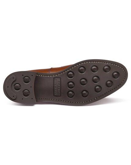 Chestnut penny loafers
