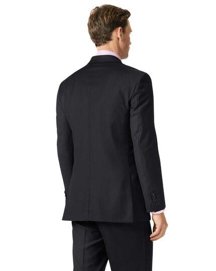 Veste de costume business noire en twill coupe droite