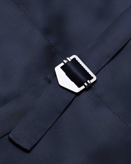 Navy adjustable fit Panama stripe business suit waistcoat