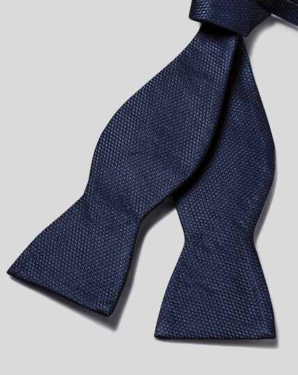 Silk Classic Self-tie Bow Tie - Navy