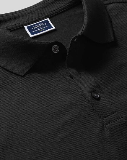 Polo Tyrwhitt en piqué - Noir