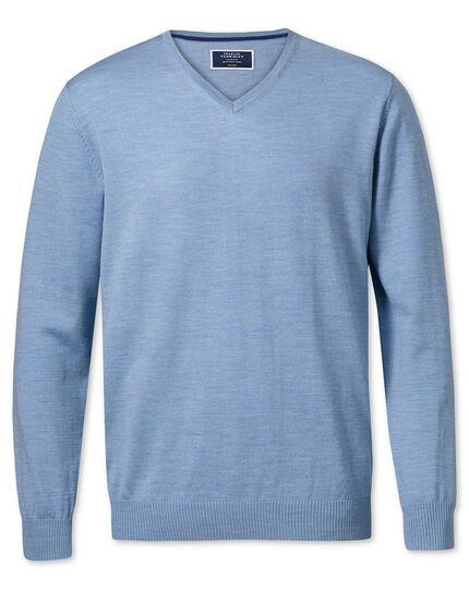 184edb8f6c Sky merino wool v-neck jumper