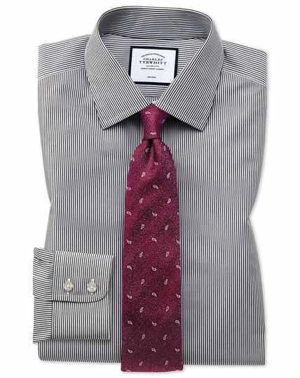 Classic fit non-iron black Bengal stripe shirt