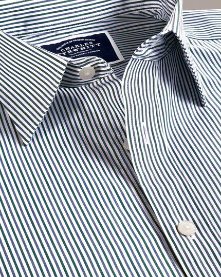 Stripe Soft Washed Shirt - Blue And Green