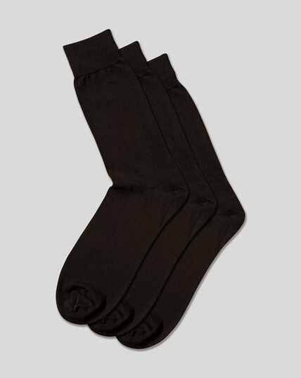 Cotton Rich 3 Pack Socks - Black