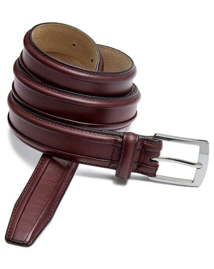 Oxblood leather smart belt