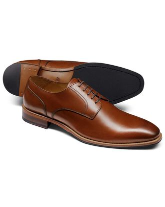 Tan Derby shoe