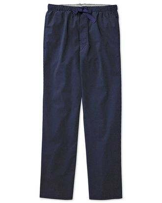 Navy dot cotton pajama pants