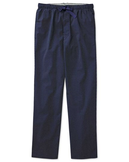 Navy dot cotton pyjama trousers