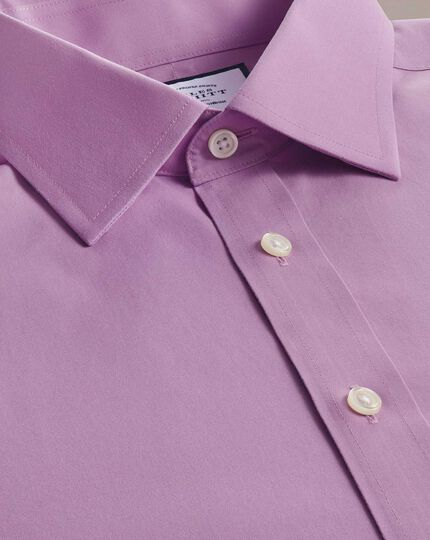 Bügelfreies Slim Fit Popelinehemd in Violett