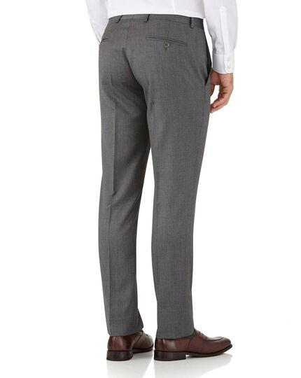 Grey slim fit Italian suit trousers