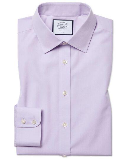 Classic fit non-iron poplin lilac shirt