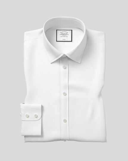 Classic Collar Non-Iron Royal Oxford Shirt  - White