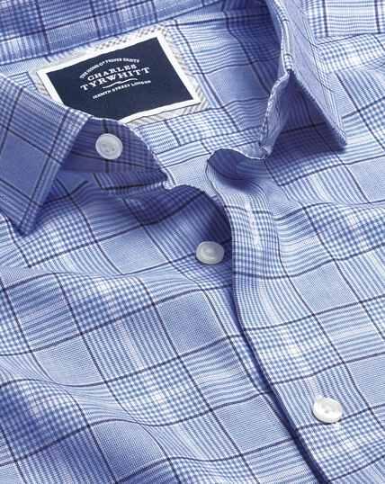 Leichtes Flanellhemd mit Prince-of-Wales-Karos - Blau