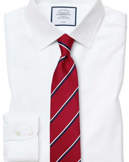 Classic fit white non-iron twill shirt