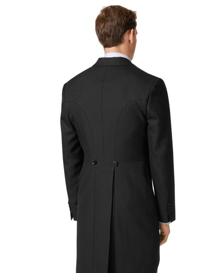 Black classic fit morning suit tail coat