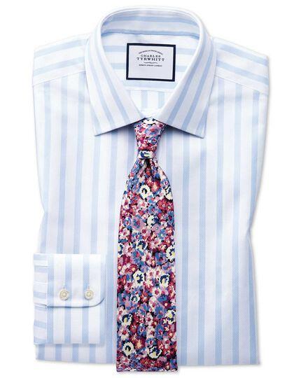 Classic fit Egyptian cotton royal Oxford sky blue stripe shirt