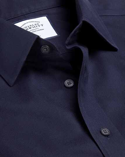 Non-Iron Twill Shirt - Navy