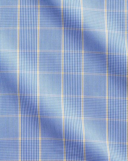 Non-Iron Prince Of Wales Shirt - Blue And Gold