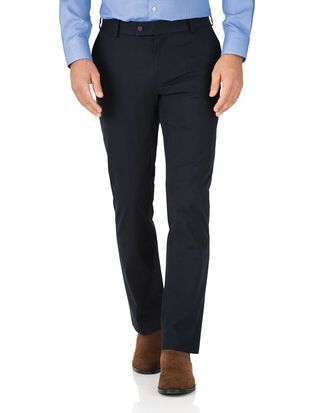 Slim Fit Stretch chino Hose Marineblau