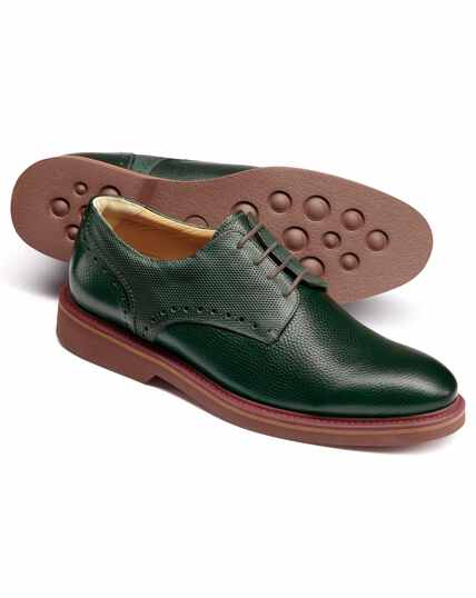 Extra leichte Derby-Schuhe in Grün