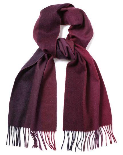 Schal aus Lammwolle mit Streifen in Rosa
