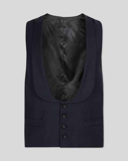 Shawl Collar Tuxedo Vest - Midnight Blue