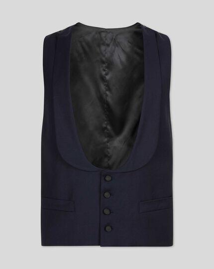 Shawl Collar Tuxedo Vest - Midnight Blue