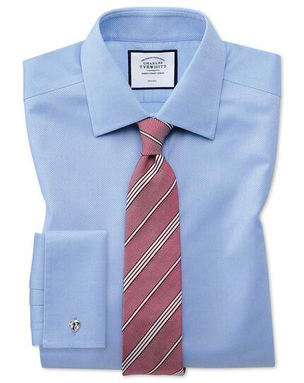 Cravate luxe rouge unie en grenadine de soie italienne