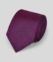 Klassische Krawatte aus Seide mit Hahnentrittmuster und Melangeeffekt - Magenta