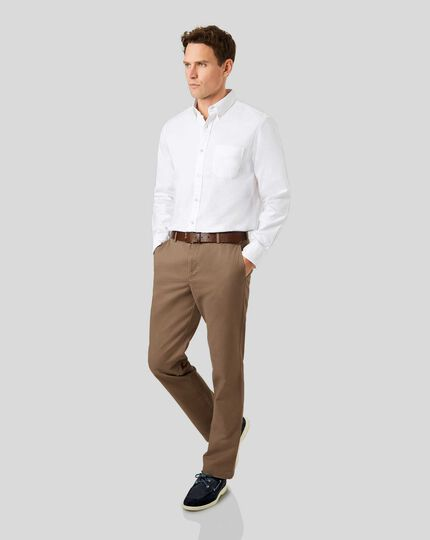Soft Washed Chinos  - Camel