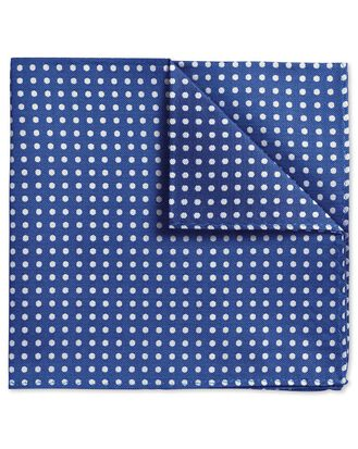 Blue Oxford spot classic pocket square