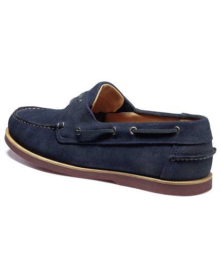 Blue boat shoe