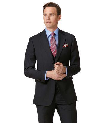 Black slim fit twill business suit jacket