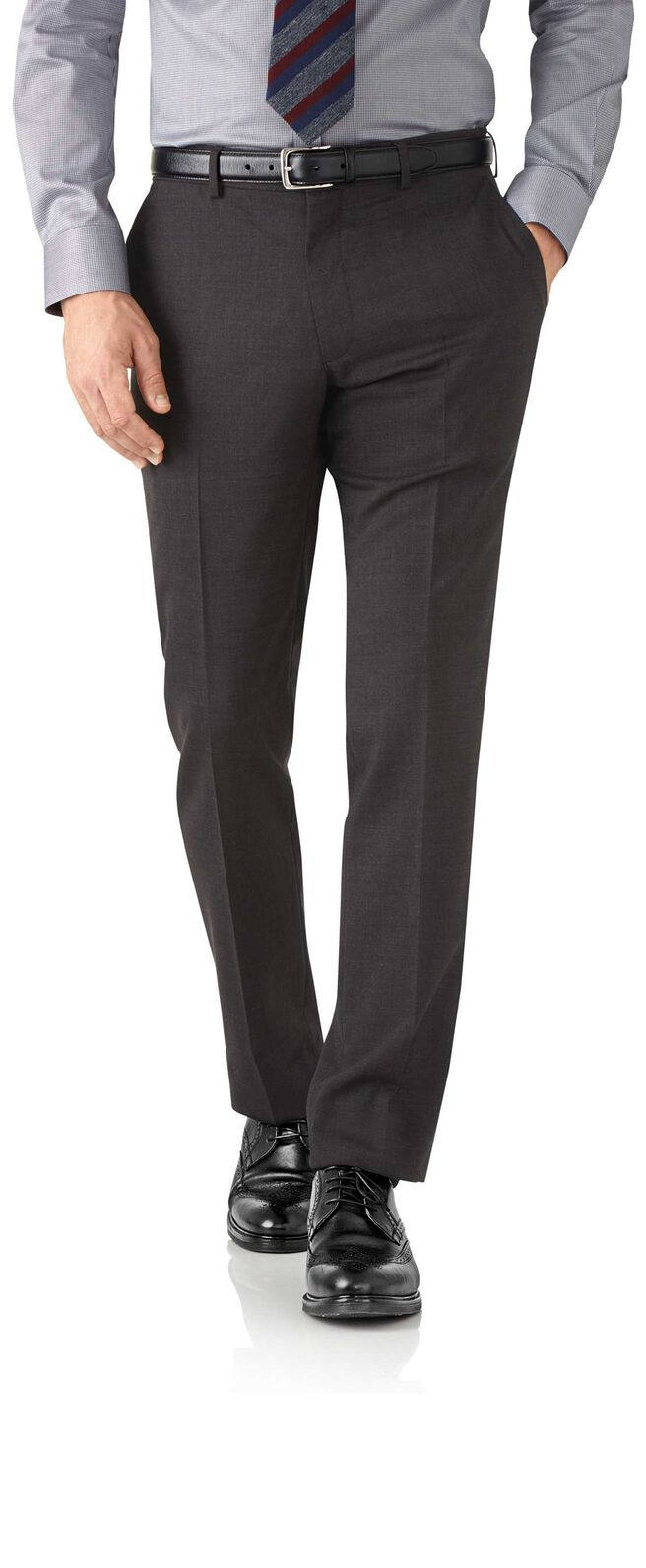 Charcoal slim fit performance suit