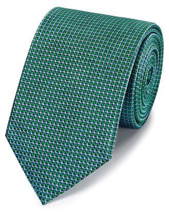 Green tonal silk classic tie